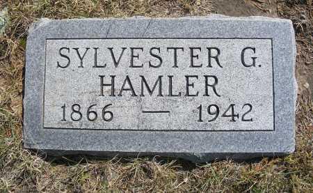 HAMLER, SYLVESTER G. - Garden County, Nebraska | SYLVESTER G. HAMLER - Nebraska Gravestone Photos
