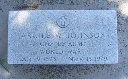 JOHNSON, ARCHIE W. - Garden County, Nebraska | ARCHIE W. JOHNSON - Nebraska Gravestone Photos