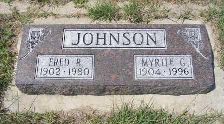 JOHNSON, MYRTLE G. - Garden County, Nebraska | MYRTLE G. JOHNSON - Nebraska Gravestone Photos