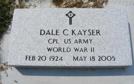 KAYSER, DALE C. - Garden County, Nebraska | DALE C. KAYSER - Nebraska Gravestone Photos