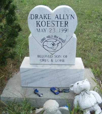 KOESTER, DRAKE ALLYN - Garden County, Nebraska | DRAKE ALLYN KOESTER - Nebraska Gravestone Photos