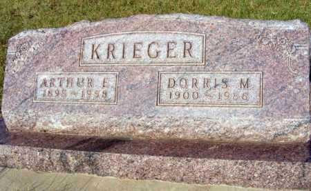 KRIEGER, ARTHUR E. - Garden County, Nebraska   ARTHUR E. KRIEGER - Nebraska Gravestone Photos