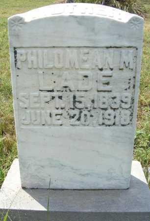 LADE, PHILOMEAN M. - Garden County, Nebraska   PHILOMEAN M. LADE - Nebraska Gravestone Photos