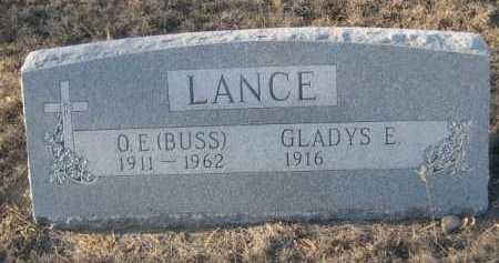LANCE, O.E. (BUSS) - Garden County, Nebraska | O.E. (BUSS) LANCE - Nebraska Gravestone Photos