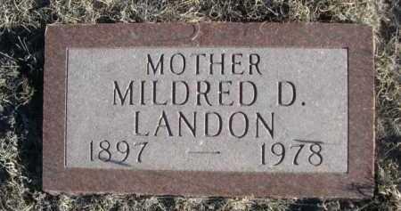 LANDON, MILDRED D. - Garden County, Nebraska | MILDRED D. LANDON - Nebraska Gravestone Photos