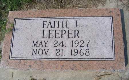LEEPER, FAITH L. - Garden County, Nebraska | FAITH L. LEEPER - Nebraska Gravestone Photos
