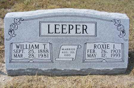 LEEPER, ROXIE I. - Garden County, Nebraska   ROXIE I. LEEPER - Nebraska Gravestone Photos