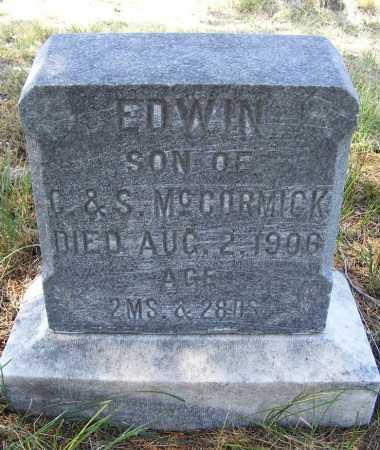 MCCORMICK, EDWIN - Garden County, Nebraska | EDWIN MCCORMICK - Nebraska Gravestone Photos