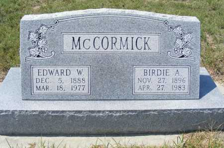 MCCORMICK, EDWARD W. - Garden County, Nebraska | EDWARD W. MCCORMICK - Nebraska Gravestone Photos