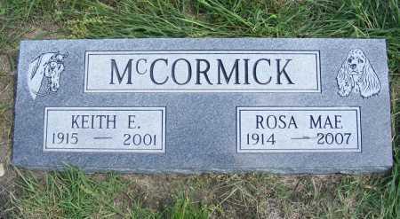 MCCORMICK, KEITH E. - Garden County, Nebraska | KEITH E. MCCORMICK - Nebraska Gravestone Photos