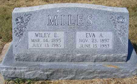 MILES, EVA A. - Garden County, Nebraska | EVA A. MILES - Nebraska Gravestone Photos