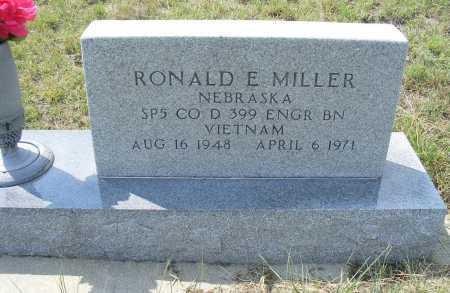 MILLER, RONALD E. - Garden County, Nebraska | RONALD E. MILLER - Nebraska Gravestone Photos