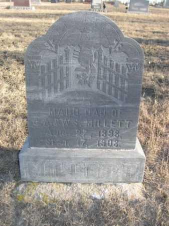 MILLETT, MAUDE - Garden County, Nebraska | MAUDE MILLETT - Nebraska Gravestone Photos