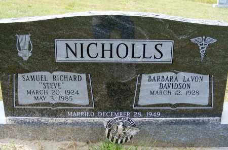 "NICHOLLS, SAMUEL RICHARD ""STEVE"" - Garden County, Nebraska | SAMUEL RICHARD ""STEVE"" NICHOLLS - Nebraska Gravestone Photos"