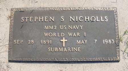 NICHOLLS, STEPHEN S. - Garden County, Nebraska | STEPHEN S. NICHOLLS - Nebraska Gravestone Photos
