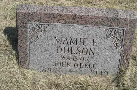 DOLSON O'DELL, MAMIE E. - Garden County, Nebraska | MAMIE E. DOLSON O'DELL - Nebraska Gravestone Photos