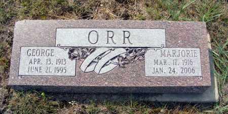 ORR, GEORGE - Garden County, Nebraska   GEORGE ORR - Nebraska Gravestone Photos