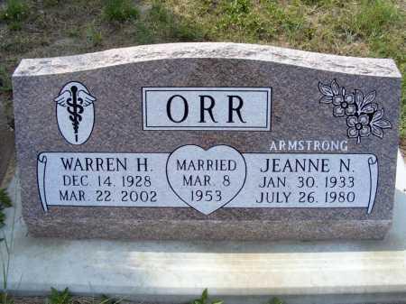 ARMSTRONG ORR, JEANNE N. - Garden County, Nebraska   JEANNE N. ARMSTRONG ORR - Nebraska Gravestone Photos