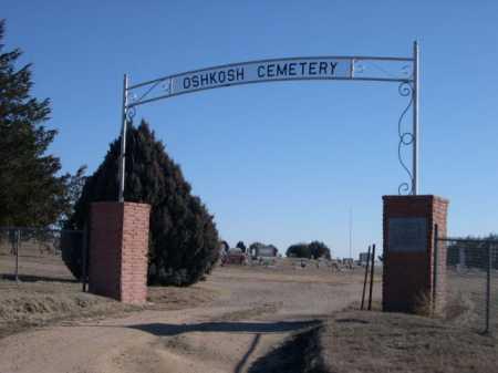 *OSHKOSH CEMETERY, ENTRANCE TO - Garden County, Nebraska | ENTRANCE TO *OSHKOSH CEMETERY - Nebraska Gravestone Photos