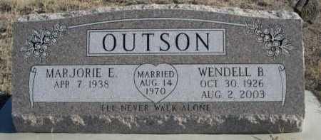 OUTSON, WENDELL B. - Garden County, Nebraska | WENDELL B. OUTSON - Nebraska Gravestone Photos