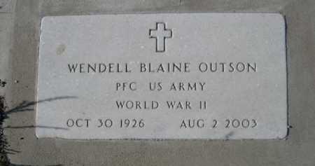 OUTSON, WENDELL BLAINE - Garden County, Nebraska | WENDELL BLAINE OUTSON - Nebraska Gravestone Photos