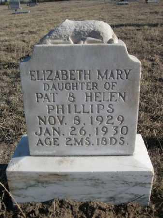 PHILLIPS, ELIZABETH MARY - Garden County, Nebraska | ELIZABETH MARY PHILLIPS - Nebraska Gravestone Photos