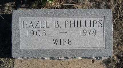 PHILLIPS, HAZEL B. - Garden County, Nebraska | HAZEL B. PHILLIPS - Nebraska Gravestone Photos