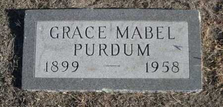 PURDUM, GRACE MABEL - Garden County, Nebraska | GRACE MABEL PURDUM - Nebraska Gravestone Photos