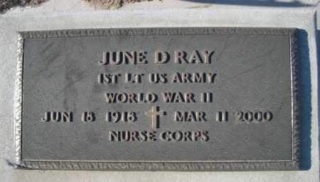 RAY, JUNE D. - Garden County, Nebraska   JUNE D. RAY - Nebraska Gravestone Photos