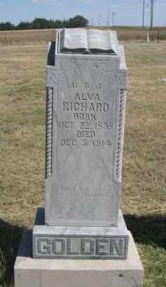 RICHARD, ALVA - Garden County, Nebraska | ALVA RICHARD - Nebraska Gravestone Photos