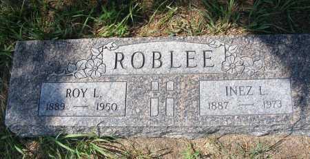 ROBLEE, INEZ L. - Garden County, Nebraska | INEZ L. ROBLEE - Nebraska Gravestone Photos