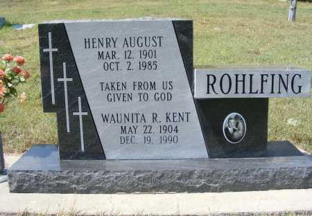 ROHLFING, HENRY AUGUST - Garden County, Nebraska | HENRY AUGUST ROHLFING - Nebraska Gravestone Photos