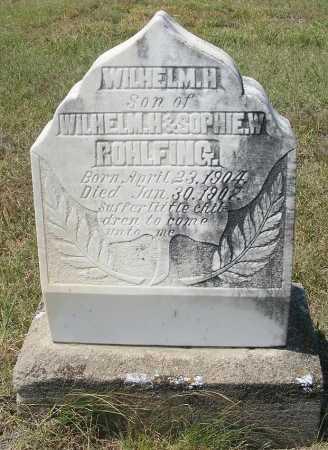 ROHLFING, WILHELM H. - Garden County, Nebraska   WILHELM H. ROHLFING - Nebraska Gravestone Photos