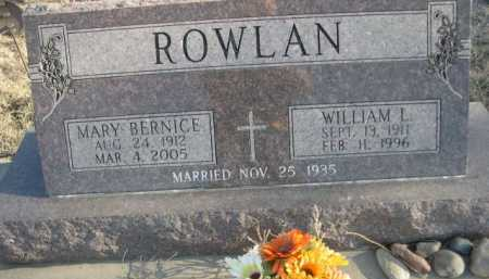 ROWLAN, WILLIAM L. - Garden County, Nebraska | WILLIAM L. ROWLAN - Nebraska Gravestone Photos