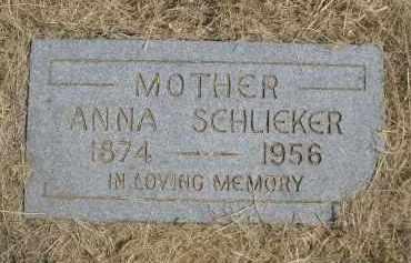SCHLIEKER, ANNA - Garden County, Nebraska | ANNA SCHLIEKER - Nebraska Gravestone Photos