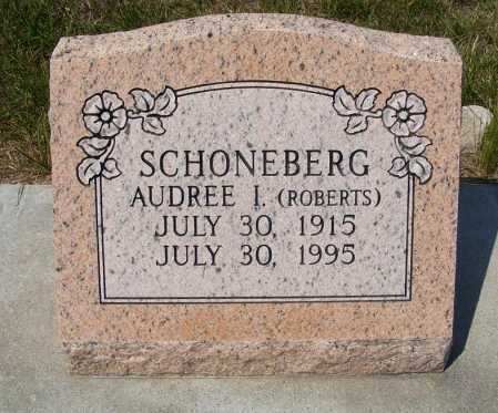 ROBERTS SCHONEBERG, AUDREE I. - Garden County, Nebraska | AUDREE I. ROBERTS SCHONEBERG - Nebraska Gravestone Photos