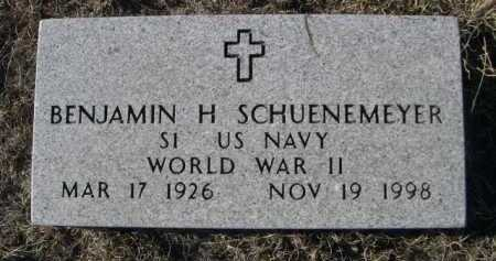 SCHUENEMEYER, BENJAMIN H. - Garden County, Nebraska | BENJAMIN H. SCHUENEMEYER - Nebraska Gravestone Photos