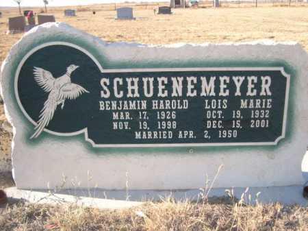 SCHUENEMEYER, BENJAMIN HAROLD - Garden County, Nebraska | BENJAMIN HAROLD SCHUENEMEYER - Nebraska Gravestone Photos