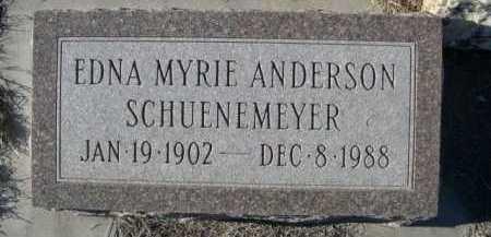 ANDERSON SCHUENEMEYER, EDNA MYRIE - Garden County, Nebraska | EDNA MYRIE ANDERSON SCHUENEMEYER - Nebraska Gravestone Photos