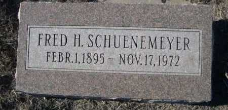 SCHUENEMEYER, FRED H. - Garden County, Nebraska | FRED H. SCHUENEMEYER - Nebraska Gravestone Photos