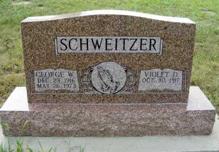 SCHWEITZER, GEORGE W. - Garden County, Nebraska | GEORGE W. SCHWEITZER - Nebraska Gravestone Photos
