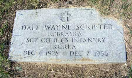 SCRIPTER, DALE WAYNE - Garden County, Nebraska   DALE WAYNE SCRIPTER - Nebraska Gravestone Photos