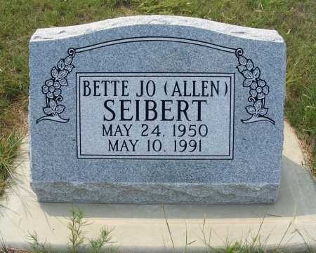 ALLEN SEIBERT, BETTE JO - Garden County, Nebraska | BETTE JO ALLEN SEIBERT - Nebraska Gravestone Photos
