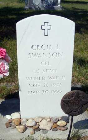 SWANSON, CECIL L. - Garden County, Nebraska | CECIL L. SWANSON - Nebraska Gravestone Photos