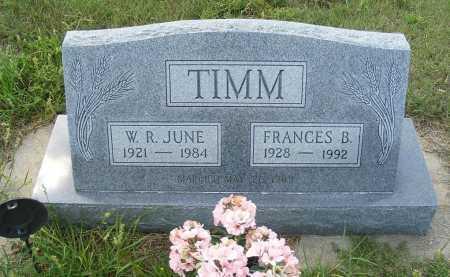 TIMM, W.R. JUNE - Garden County, Nebraska | W.R. JUNE TIMM - Nebraska Gravestone Photos