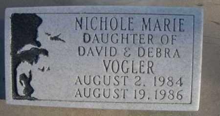 VOGLER, NICHOLE MARIE - Garden County, Nebraska | NICHOLE MARIE VOGLER - Nebraska Gravestone Photos