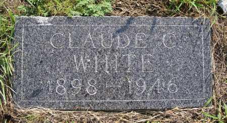 WHITE, CLAUDE C. - Garden County, Nebraska | CLAUDE C. WHITE - Nebraska Gravestone Photos