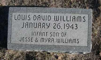 WILLIAMS, LOUIS DAVID - Garden County, Nebraska | LOUIS DAVID WILLIAMS - Nebraska Gravestone Photos