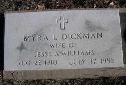 DICKMAN WILLIAMS, MYRA L. - Garden County, Nebraska | MYRA L. DICKMAN WILLIAMS - Nebraska Gravestone Photos