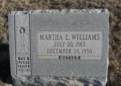 WILLIAMS, MARTHA E. - Garden County, Nebraska | MARTHA E. WILLIAMS - Nebraska Gravestone Photos